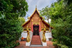 Wat Pra Kaew or The Temple of the Emerald Buddha Stock Image