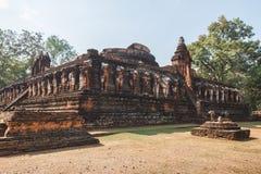 Wat Pra Khaeo Archaeological Site at Kamphaeng Phet Historical Park. Kamphaeng Phet Province, Thailand Royalty Free Stock Image