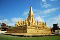 Wat Pra That Luang Stock Photo