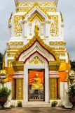 Wat Pra That Prasit Stupa, Nawa, Nakhon Phanom, Thailand. Located in Amphoe Na Wa, the stupa is designated as a holy place, especially for one born on Thursday Stock Images
