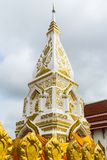 Wat Pra That Prasit Stupa, Nawa, Nakhon Phanom, Thailand. Located in Amphoe Na Wa, the stupa is designated as a holy place, especially for one born on Thursday Royalty Free Stock Images