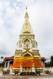 Wat Pra That Prasit Stupa, Nawa, Nakhon Phanom, Thailand. Located in Amphoe Na Wa, the stupa is designated as a holy place, especially for one born on Thursday Royalty Free Stock Photography