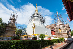 Wat pra sing temple in construction. Chiangmai, Thaialnd stock images