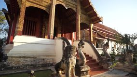 Wat Pra Singha famous temple in Chiang Mai Thailand stock video