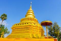 Wat Pra That Sri Jom-Zapfentempel Lizenzfreies Stockbild