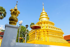 Wat Pra That Sri Jom-Zapfentempel Stockfotografie