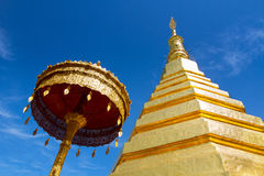 Wat Pra Tat Chor Hae. Phrae province, Northern of Thailand Royalty Free Stock Image