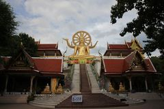 Wat Pra Yai - Big Buddha at Koh Samui Thailand.  Royalty Free Stock Images