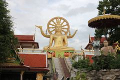 Wat Pra Yai - Big Buddha at Koh Samui Thailand.  Stock Photography
