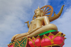 Wat Pra Yai Koh Farn - Big Buddha. At Koh Samui Thailand Royalty Free Stock Photo