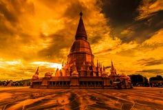 Wat Prabudhabaht Huay Toom in the sunset, Thailand Stock Photography