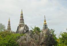 Wat Prajomklao Rachanusorn Thai Temple on high mountain Stock Images