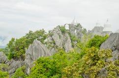 Wat Prajomklao Rachanusorn Thai Temple on high mountain Royalty Free Stock Photography