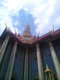 Wat Prakaew. Beauty palace in Thailand with sky Stock Image