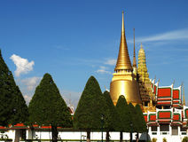 Wat prakaew, storslagen slott Royaltyfri Fotografi