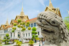 Wat prakaew, storslagen slott, bangkok, Thailand Royaltyfria Bilder