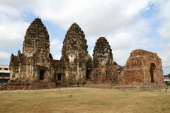 WAT PRANG SAM YOT in Lop Buri Royalty Free Stock Images
