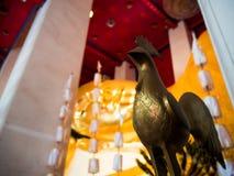 Wat Pranonjaksi, reclining Buddha, Sing Buri, Thailand.  stock photography