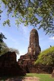 Wat Praram in Ayutthaya, Thailand Stockbilder