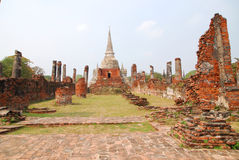 Wat Prasrisanphet. Wat Prasrisaphet, the famous old temple in Ayutthaya Royalty Free Stock Image