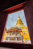 Wat PrathadHariphunchai 库存图片