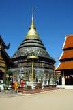 Wat Prathat在泰国北部的Lampang Luang 库存照片