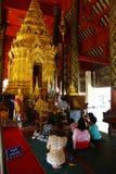 Wat Prathat在泰国北部的Lampang Luang 图库摄影