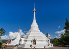 Wat prathat doi kong mu white pagoda, mae hong son, Thailand Stock Photo