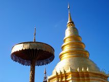 Wat prathat hariphunchai lamphun province Royalty Free Stock Photography