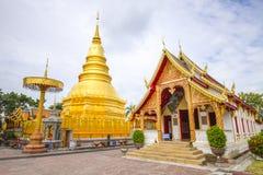 Wat Prathat Hripunchai寺庙- Lamphoon泰国 库存图片