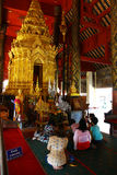Wat Prathat Lampang Luang ao norte de Tailândia Fotografia de Stock