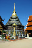 Wat Prathat Lampang Luang a nord della Tailandia Fotografie Stock