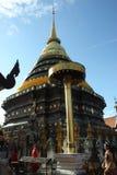 Wat Prathat Lampang Luang przy północą Tajlandia Fotografia Stock
