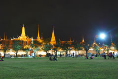 Wat pre kaew at night. Beautiful view at Wat Pra kaew  in the night , Bangkok Stock Photos
