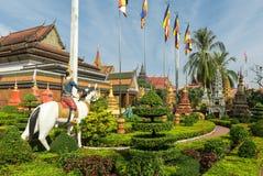 Wat Preah Ang, Siem Reap, Camboya Foto de archivo libre de regalías