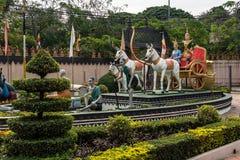 Wat Preah Prom Rath em Siem Reap, Angkor, Camboja fotos de stock
