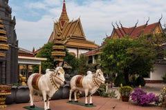 Wat Preah Prom Rath en Siem Reap, Angkor, Camboya fotografía de archivo