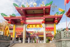 Wat Put Jaw. Phuket, Thailand - October 13th 2015: Wat Put Jaw Chinese temple. There are many Chinese style temples across the island royalty free stock images