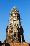 Wat radburana temple in ayutthaya , Thailand. Stock Photography