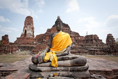 Wat Rajaburana Royalty Free Stock Photo