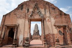 Wat Rajaburana, Ayutthaya Royalty Free Stock Photos