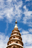 Wat Ram Poeng Pagoda with blue sky and clouds  in chiang mai, Th Stock Photos