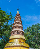 Wat ram poeng pagoda,Thailand the Buddhist temple in Chiang Mai, Royalty Free Stock Photography