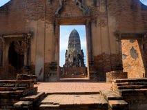 Wat Rat Burana Ayutthaya Arkivbild