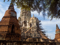 Wat Rat Burana, Ayutthaya Royalty-vrije Stock Afbeeldingen
