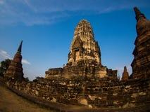 Wat Rat Burana forntida Ayutthaya, Thailand Arkivfoton