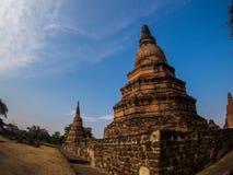Wat Rat Burana oude Ayutthaya, Thailand Royalty-vrije Stock Afbeelding