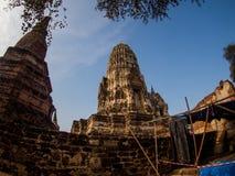 Wat Rat Burana oude Ayutthaya, Thailand Royalty-vrije Stock Foto's