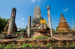 Wat Ratburana, Ayutthaya, Thailand Fotografering för Bildbyråer