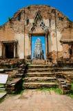 Wat Ratburana, Ayutthaya, Thailand Royaltyfri Bild
